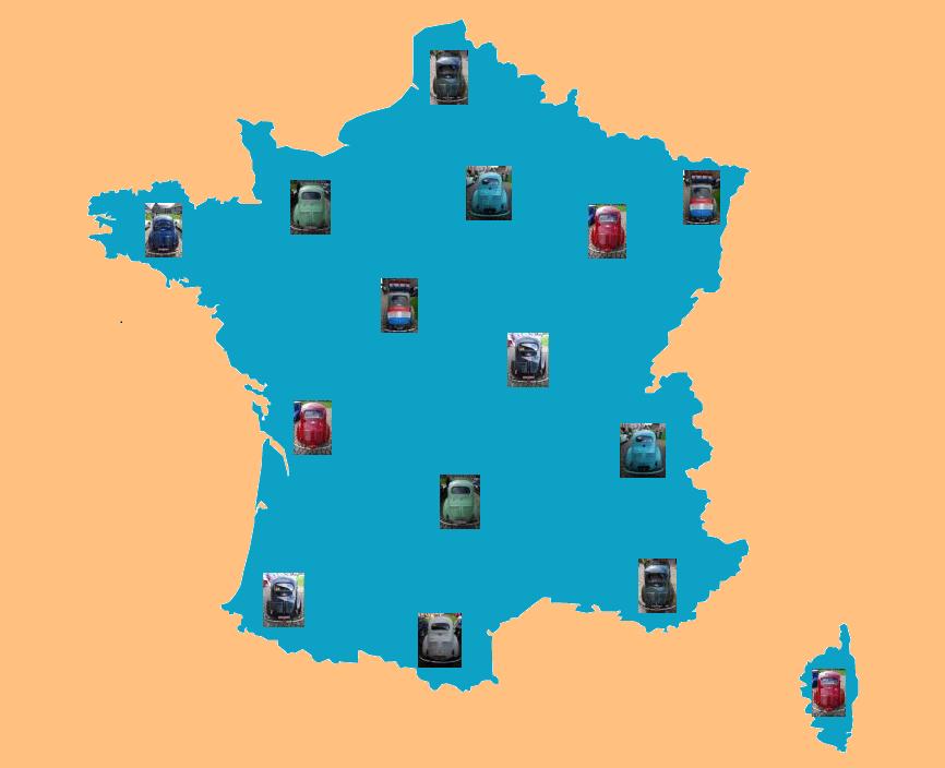 Recensement des Renault 4cv en France - http://www.renault4cv.fr